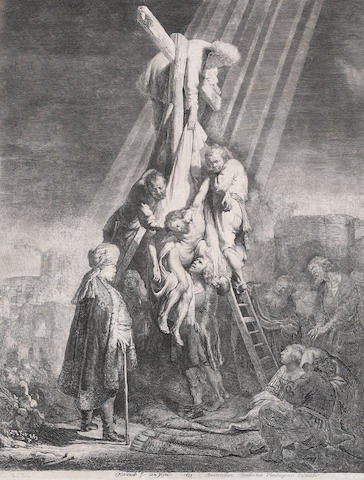 Rembrandt, The descent from the Cross: the second plate (B.81), 1633;