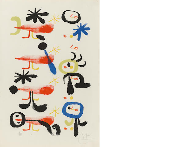 Joan Miró (1893-1983); The Bird-Catchers I;