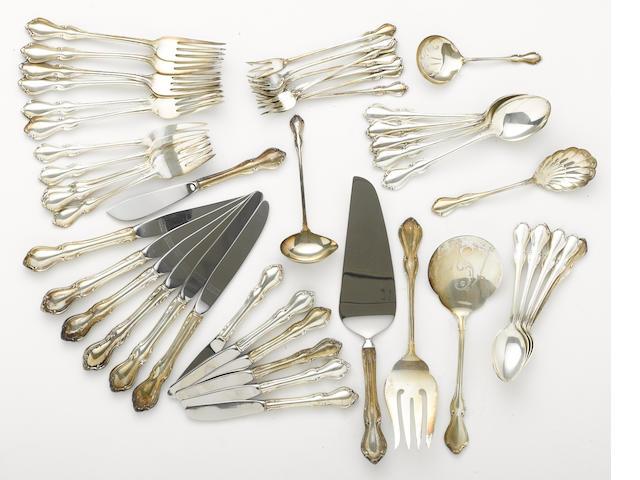 A sterling flatware set by Reed & Barton, Taunton, MA <BR />Hampton Court  (48)