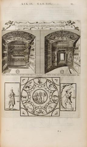 ARINGHI, PAOLO. 1600-1676. Roma subterranea novissima in qua ... antiqua christianorum ... illustrantur. Paris: [Leonard], 1659.