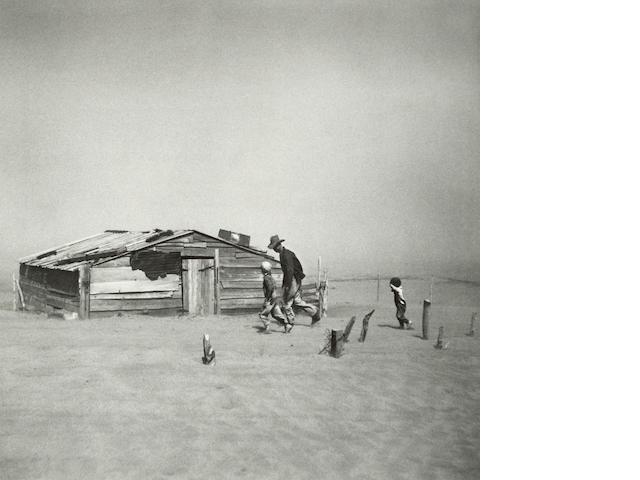 Arthur Rothstein (1915-1985); Fleeing a Dust Storm, Cimarron County, Oklahoma;