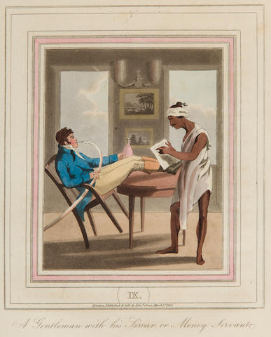 WILLIAMSON, THOMAS. The Costume and Customs of Modern India; from a Collection of Drawings by Charles Doyley. London: Edward Orme, [plates watermarked 1821].