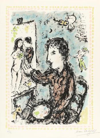 Marc Chagall (1887-1985); Studio Scene;