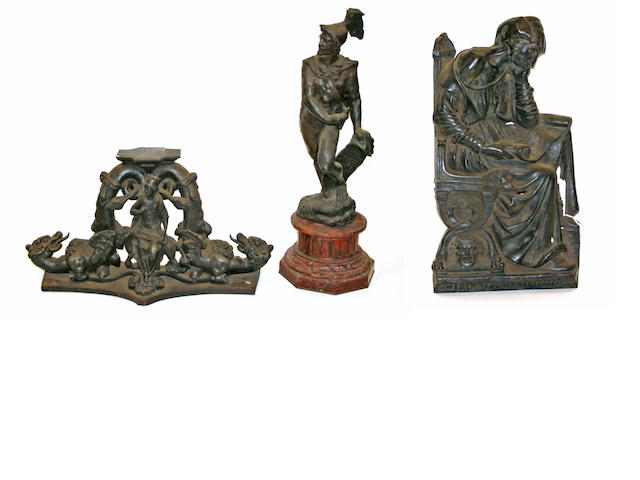 Three Renaissance style patinated bronzes   19th/20th century