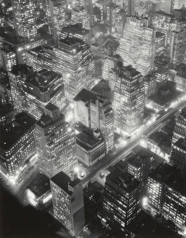 Berenice Abbott (1898-1991); New York at Night;