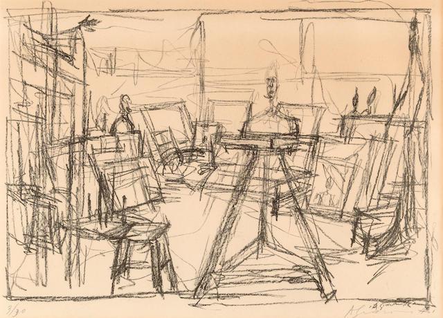 Alberto Giacometti (1901-1966); Bust in the Studio (Buste dans l'atelier);