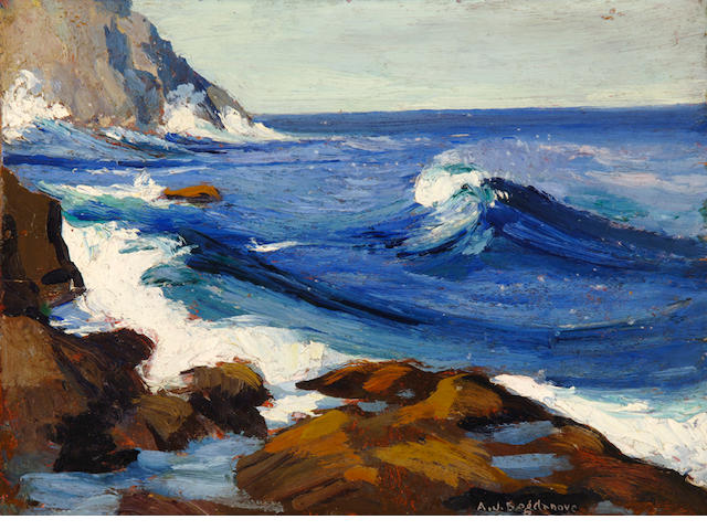 Abraham Jacob Bogdanove (Russian/American, 1887-1946) Monhegan 12 x 16in