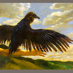 Jamie Wyeth (American, born 1946) Me and My Vulture 28 x 31in