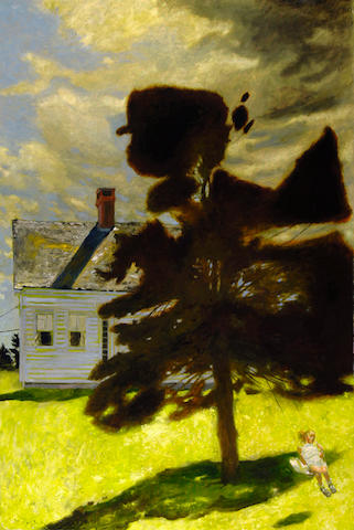 Jamie Wyeth (American, born 1946) Julia on the Swing, 1999 60 x 40in