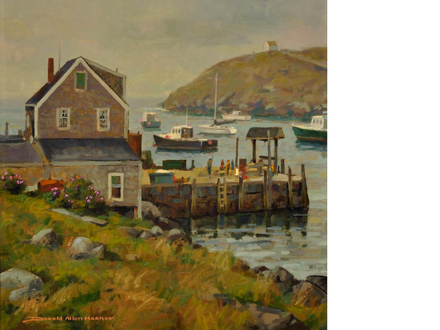 Donald Allen Mosher (American, born 1945) Misty Morning, Monhegan 22 x 22
