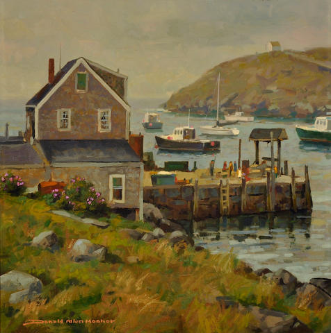 Donald Allen Mosher (American, born 1945) Misty Morning, Monhegan 22 x 22