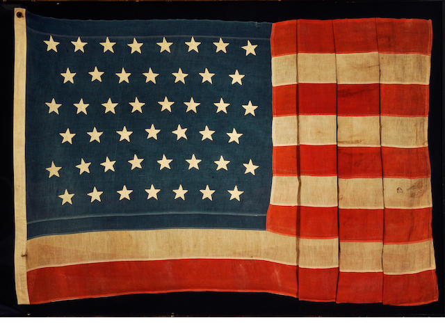 A forty-five star United States flag<BR />circa 1896-1908