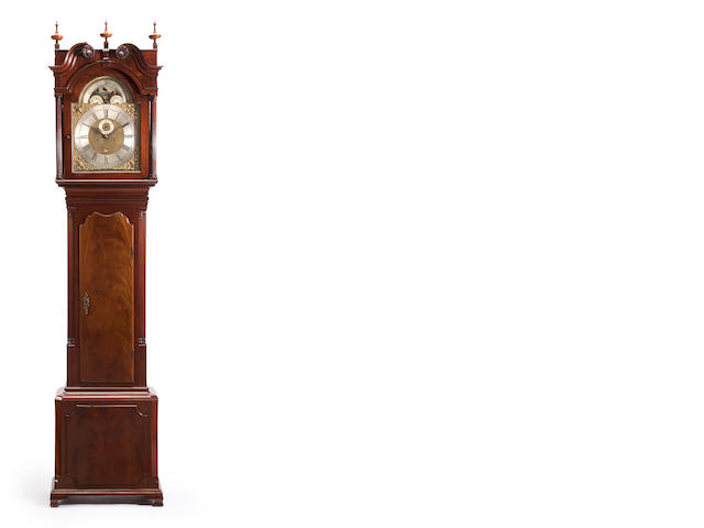 A George III mahogany tall case clock<BR />the dial inscribed Archibald Coats, Wigan<BR />late 18th century