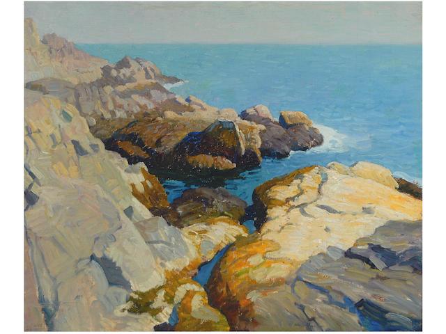Newell Convers Wyeth (American, 1882-1945) Seascape, Maine, c.1922/24 25 x 30in (63.5 x 76.2cm)