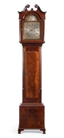An Irish George III mahogany inlaid tall case clock<BR />the dial inscribed Charles Morgan, Dublin<BR />late 18th century