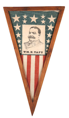 "A printed political flag inscribed ""Wm. H. Taft"""