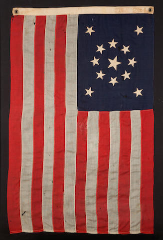 A thirteen-star private yacht ensign<BR />late 19th/early 20th century