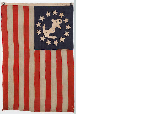 A rare thirteen-star private yacht signal flag<BR />Annin & Co., New York, circa 1860-1890