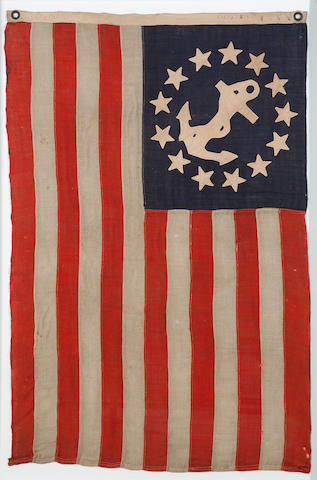 A rare thirteen-star private yacht signal flag<BR />Annin & Co., New York, circa 1860-1890