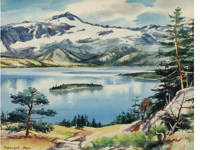 Ranulph Bye (American, 1916-2003) Lake Scene 14 1/2 x 19 1/2in