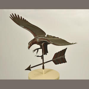 Two copper wingspread eagle weathervanes. second half 20th century