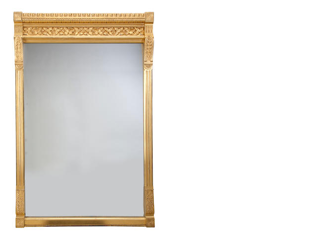 A late Victorian carved giltwood and gilt gesso pier mirror<BR />fourth quarter 19th century