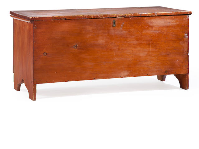 An American stained pine blanket chest first half 19th century