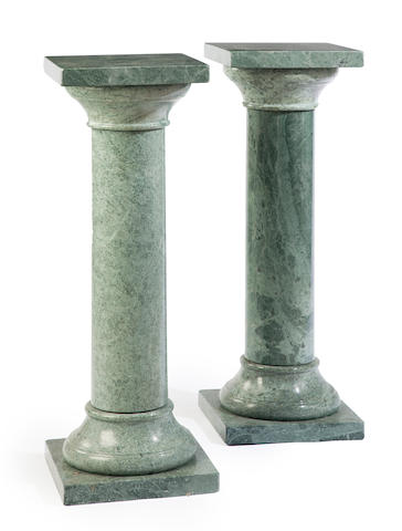 Two pairs of contemporary marble pedestals