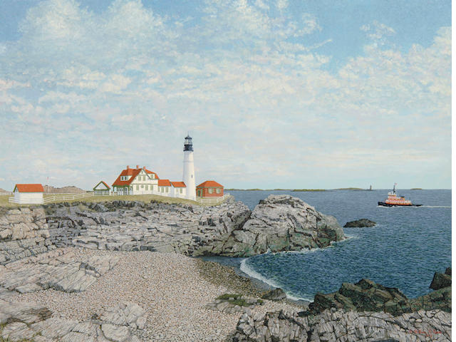 William R. Beebe (American, 20th century) Portland Headlight 17 1/2 x 24in