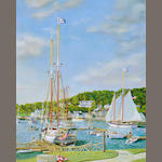 William R. Beebe (American, 20th century) Camden Harbor 20 x 16in