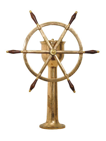 A ships wheel American Engineering, 19th century