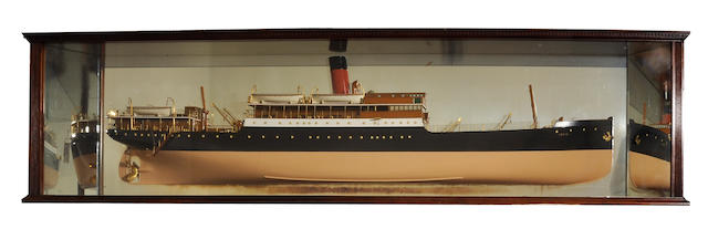 A builders' mirrored back half model of the S.S. Perth