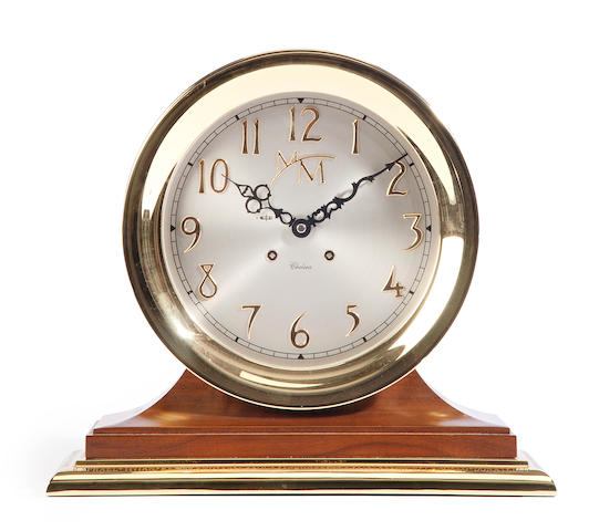 An 8–inch modern Chelsea clock with special details
