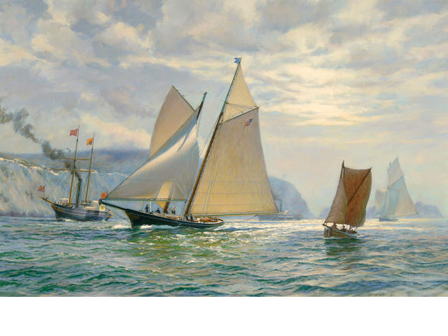 Anthony D. Blake (born New Zealand 1951) Fair Wind to Victory 27 x 40in
