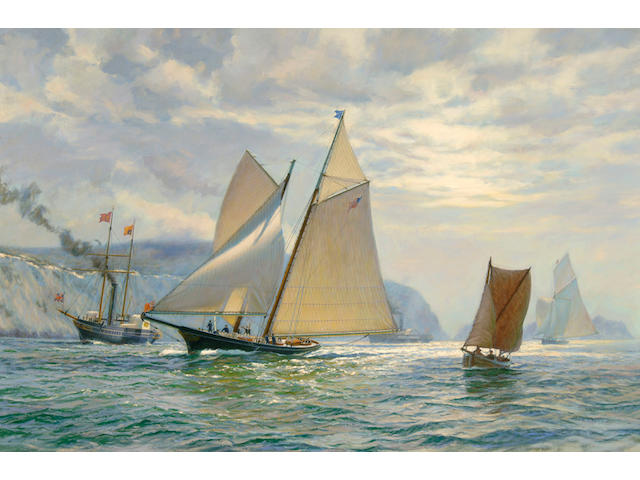 Anthony D. Blake (born New Zealand 1951) Fair Wind to Victory 27 x 40in (68.6 x 101.6cm)
