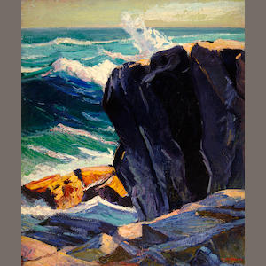 Abraham Jacob Bogdanove (Russian/American, 1887-1946) Below Pulpit Rock 36 x 30in