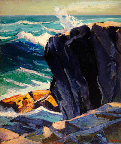 Abraham Jacob Bogdanove (Russian/American, 1887-1946) Below Pulpit Rock 36 x 30in (91.4 x 76.2cm)
