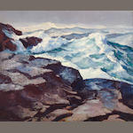 Abraham Jacob Bogdanove (Russian/American, 1887-1946) Heavy Seas 25 x 30in