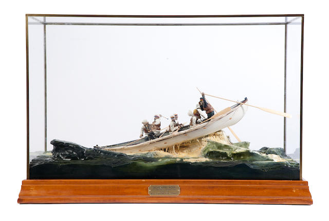 "A diorama ""The Designated Hour""  28 x 14 x 18 in. (71.1 x 35.5 x 45.7 cm.) cased."
