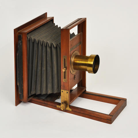 A 10 x 12 inch studio view camera  circa 1870 15-1/4 x 20-1/2 x 12-1/2 in.(38.5 x 52 x 31.7 cm.)