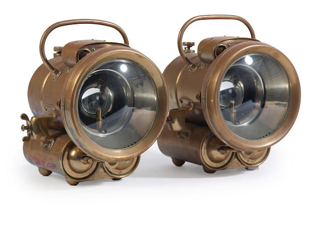 A pair of ship's lanterns