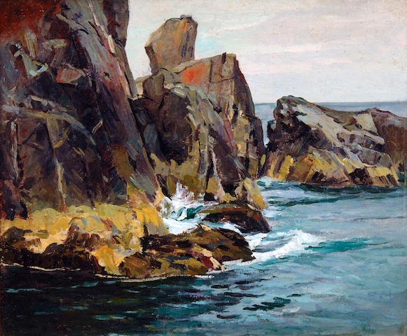 Abraham Jacob Bogdanove (Russian/American, 1887-1946) Pulpit Rock 30 x 36in (76.2 x 91.5cm)