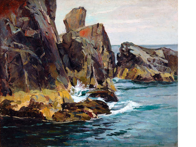 Abraham Jacob Bogdanove (Russian/American, 1887-1946) Pulpit Rock 30 x 36in