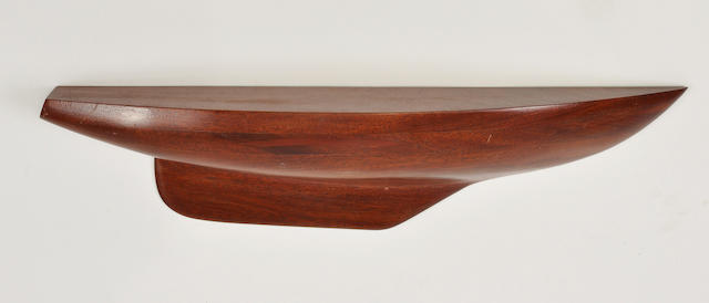 Mahogany half hull model of Ensign/Electra/Carl Alberg Dsg/L.O.A. 22