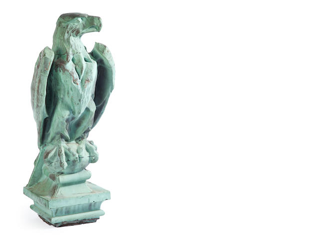 A Classical style copper eagle architectural element<BR />late 19th/early 20th century