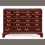 A modern Link-Taylor brass mounted mahogany dressing chest
