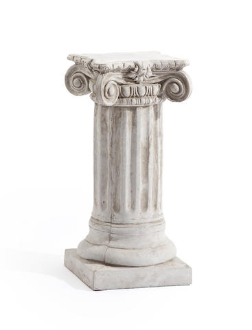 A Neoclassical style composition and concrete columnar pedestal second half 20th century