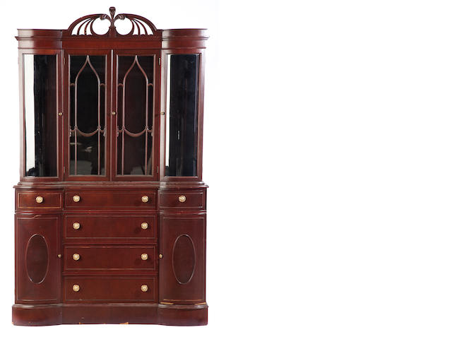 A Hepplewhite style fruit wood vitrine cabinet<BR />20th century
