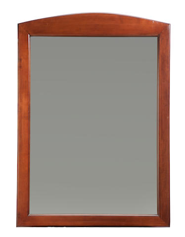 A pair of modern fruit wood framed mirrors<BR />