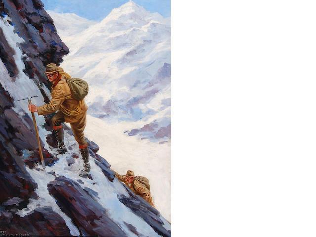Anton Otto Fischer (American, 1882-1962) The Climbers 29 x 21in